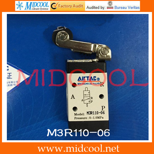 Original AirTAC Control valve(3/2way) M3 Series M3R110-06 new smb female jack right angle connector switch fakra convertor rg316 wholesale fast ship 15cm 6 adapter