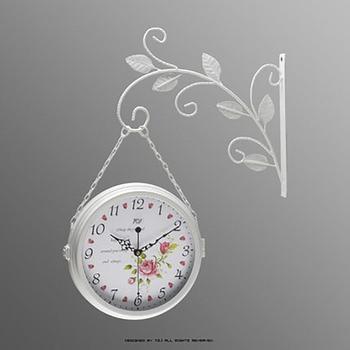 Iron Simple Double-Sided Wall Clock Watches Pow Patrol Watch Mechanism Home Decor European Relogio Parede Creative Quartz 50Q334