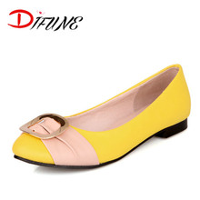 Plus size 31-48 2016 Spring New Leisure Fashion PU Round Bow Sequined Shoes Loafers Ballet Flats Heel Shoes Women British Style