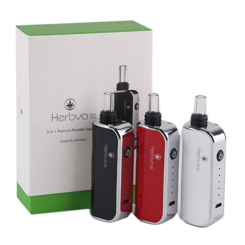 Airistech Herbva X 3 in 1 dry herb wax and thick oil vaporizer E Cigarettes Herbal