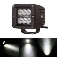 2x 3 18W 1800LM CREE Flood Driving Fog Lights Led Light Bar Off Road Led Light