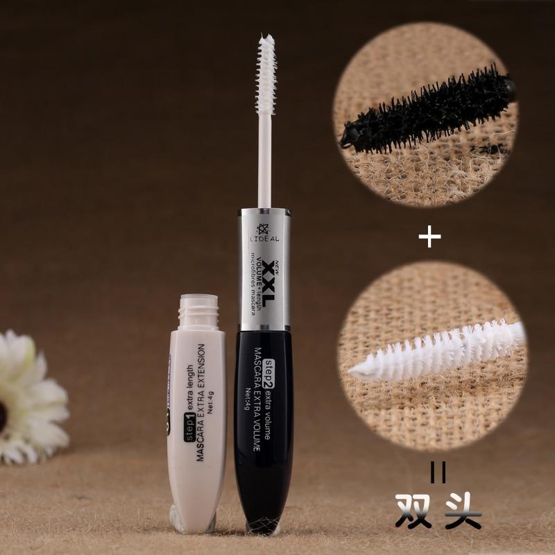 High Quality Makeup Mascara Waterproof Long Eyelash Curling Lengthening Double Extension Black White XXL Mascara Cosmetic #5003