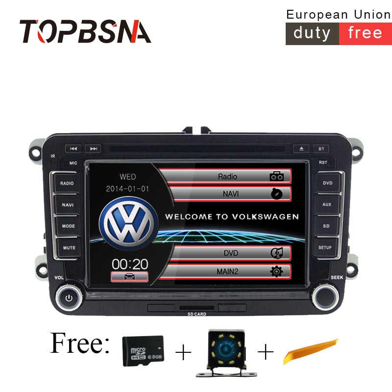TOPBSNA 2 DIN автомобильный DVD gps радио для Volkswagen Skoda VW Passat B6 Поло Гольф 4 5 Touran Sharan Jetta Caddy T5 Tiguan Бора стерео