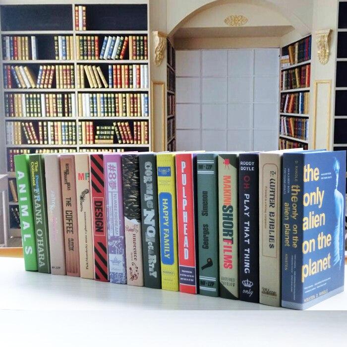 Decorative Fake Book Boxes Delectable Aliexpress  Buy Modern Props Books Brief Decoration Model Design Ideas