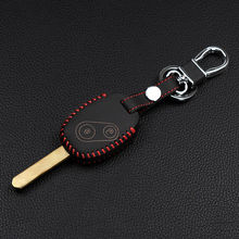 2017 Special offer genuine leather car cover case style key chain ring for Honda CR-V Civic Fit Freed Step WGN 3 buttons remote