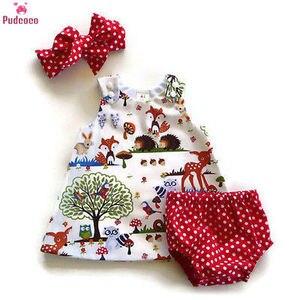 3 szt. Niemowlę noworodek maluch dzieci zestaw ubranek dla dziewczynki drukuj kreskówka wzór zwierzęcy sukienka + krótkie spodnie zestaw strojów