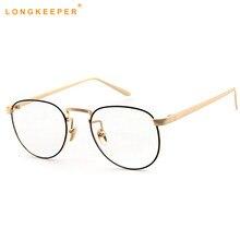 bb162202ba321 2018 New Fashion Small Round Nerd Glasses Clear Lens Unisex Gold Metal  Frame Glasses Optical Men Women Black Gafas LongKeeper