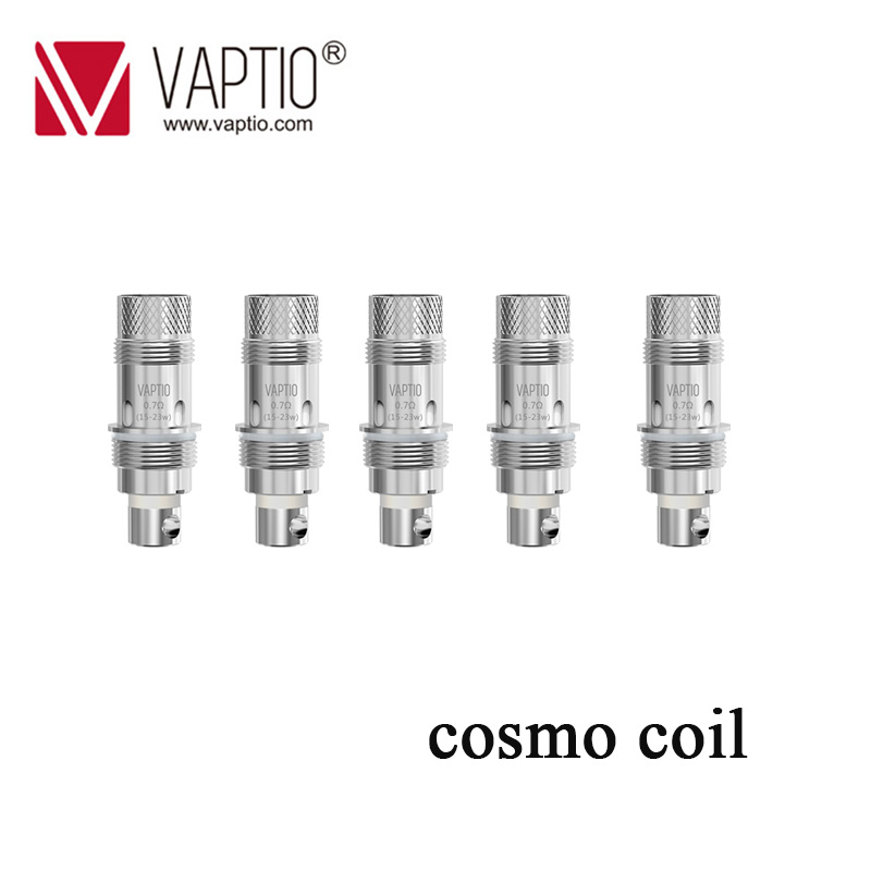 5pc Original vaptio cosmo coil fittd cosmo kit with  1.6ohm (MTL) / 0.7ohm (DL) Resistance and 10-23W