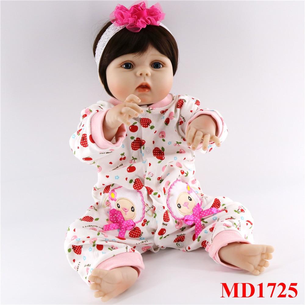 56 cm corps complet silicone bebes fille poupées mignon cheveux courts réel doux toucher vivant reborn bébé jouets pour enfants cadeau d'anniversaire