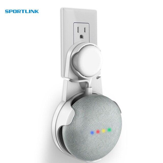 Soporte de montaje en pared de salida para Google Home Mini, un accesorio ahorro de espacio para Google Home Mini asistente de voz