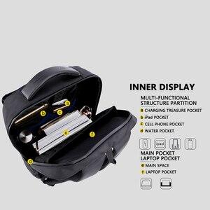 Image 5 - Shockproof Mens USB Charging Anti Theft Backpacks Waterproof 15.6 inch Black Male Laptop Bagpacks Multifunction Travel Bags