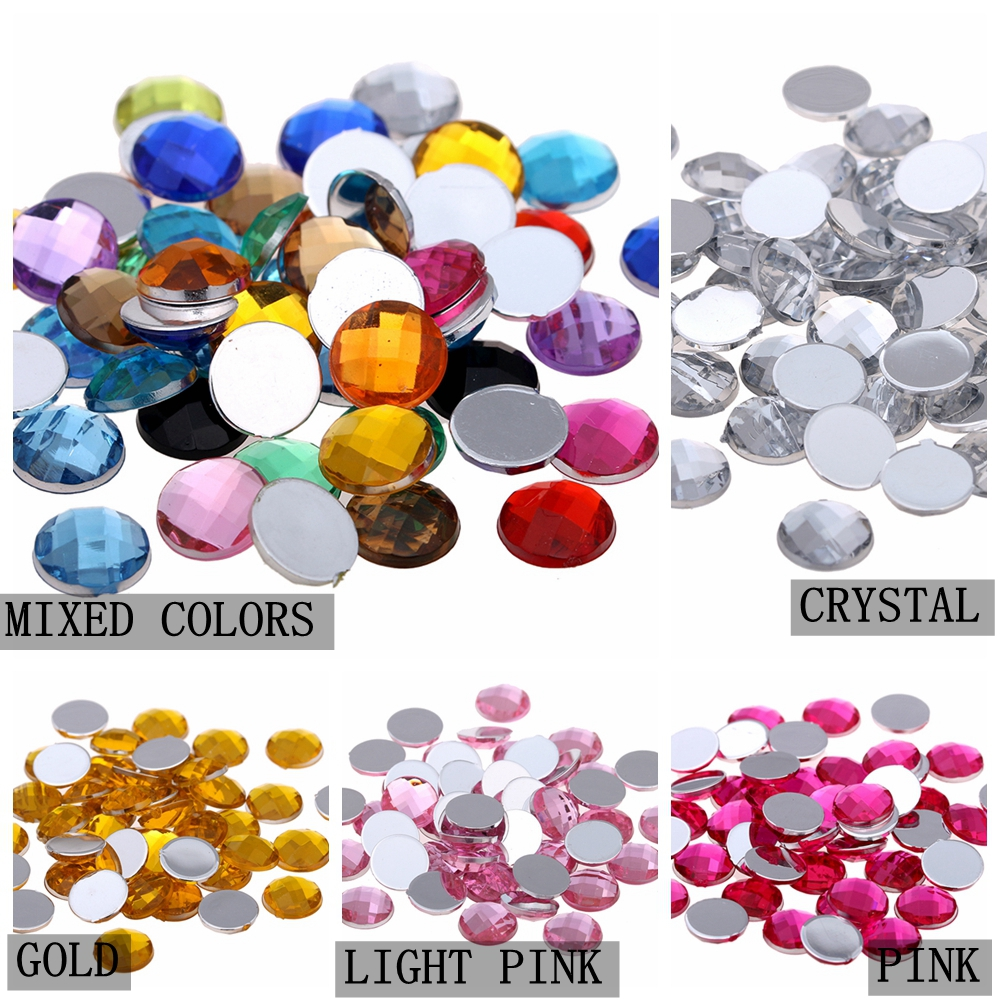 Gems Flat Back Faceted 8mm 10mm 15mm Round Heart Oval Flower Loose Rhinestones