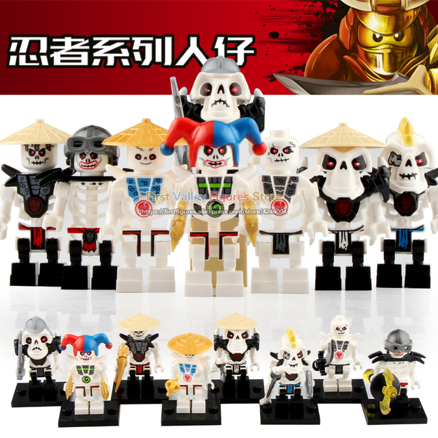 Ninjagoed Figura de Ação Soldado Osso Frakjaw Legoed Arma Do Exército Esqueleto Garmadon Blocos de Construção Brinquedos para As Crianças A041-048