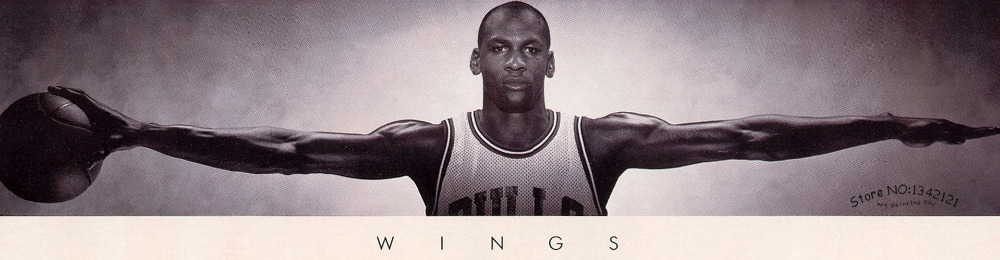 Michael Jordan WINGS MJ 23 Basketball Poster High quality Fabric Silk Print 3 Size poster and prints for Home Decorate