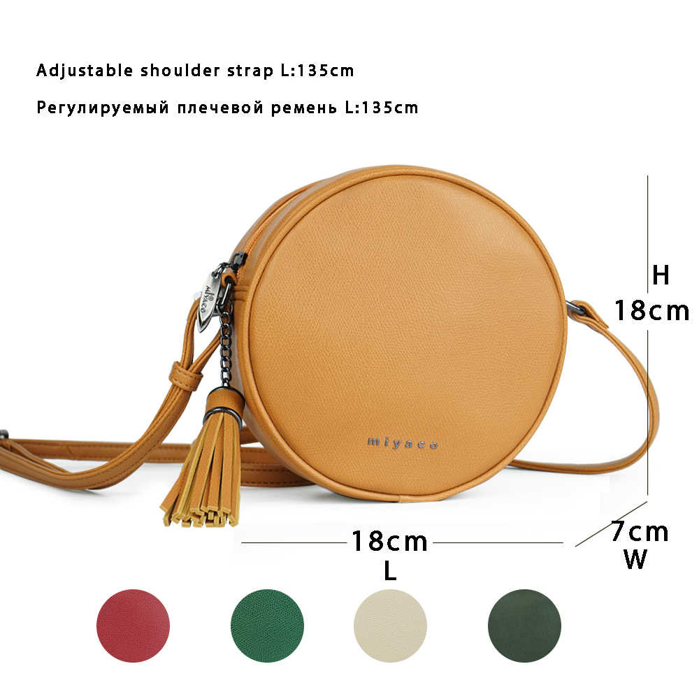 miyaco fashion crossbody bags handbags women round shoulder bag brand messenger bags small ladies cross body  [ 1000 x 1000 Pixel ]