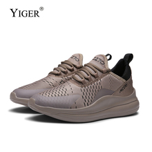 YIGER New Men running shoes Fashion sports male trend Increased casual big size lace-up mens leisure sneakers  0305