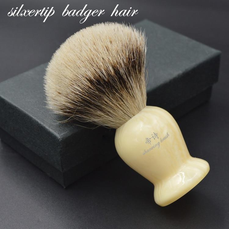 ابرو ابزار دستگیره رزین برس برس دستگیره Silvertip Badger دستباف تراشیده شده