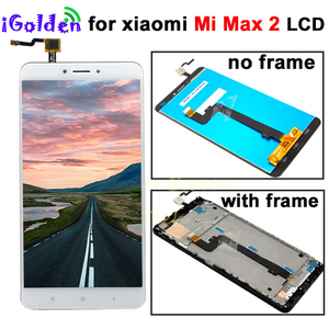 Image 1 - XIAOMI MI MAX 2 LCD Max2 IPS lcd display Touch Screen Digitizer with Frame Replacement Parts 1920*1080 for xiaomi mi max 2 lcd