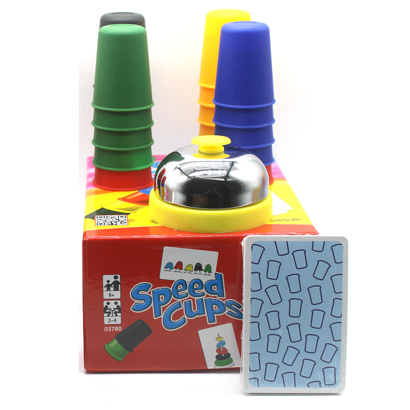 Juegos de cartas clásicos tazas de velocidad, juego de cartas familia y niños juegos de mesa juegos de interior con instrucciones en inglés