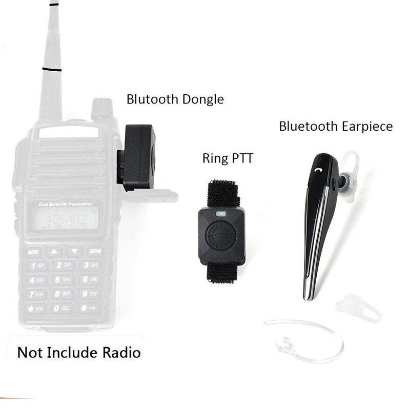 Baofeng UV-5R UV-82 talkie walkie sans fil bluetooth Écouteur casque Écouteur Pour Motorola KENWOOD Casque