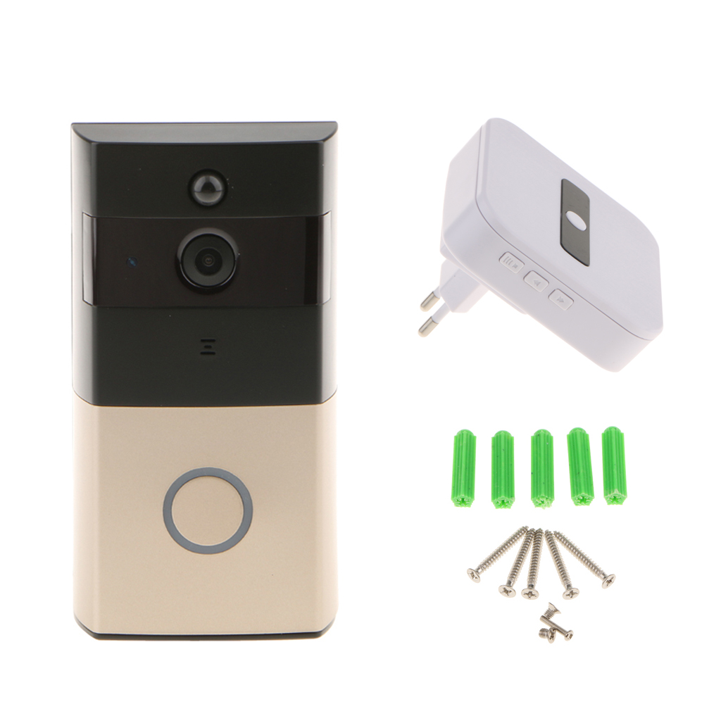 Human Body Detection Smart Wifi 720P HD Camera Video Doorbell Door Chime, PIR, EU гардина wisan 9501