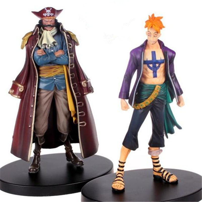 1pc/lot Anime One Piece Figures Marco VS Gol.D.Roger PVC 2 Styles Marco/Roger Action Figure Collection Kids Toys 17cm hot toys 10pcs lot generation 1 2 3 juguetes pvc minecraft toys micro world action figure set minecraft keychain anime figures