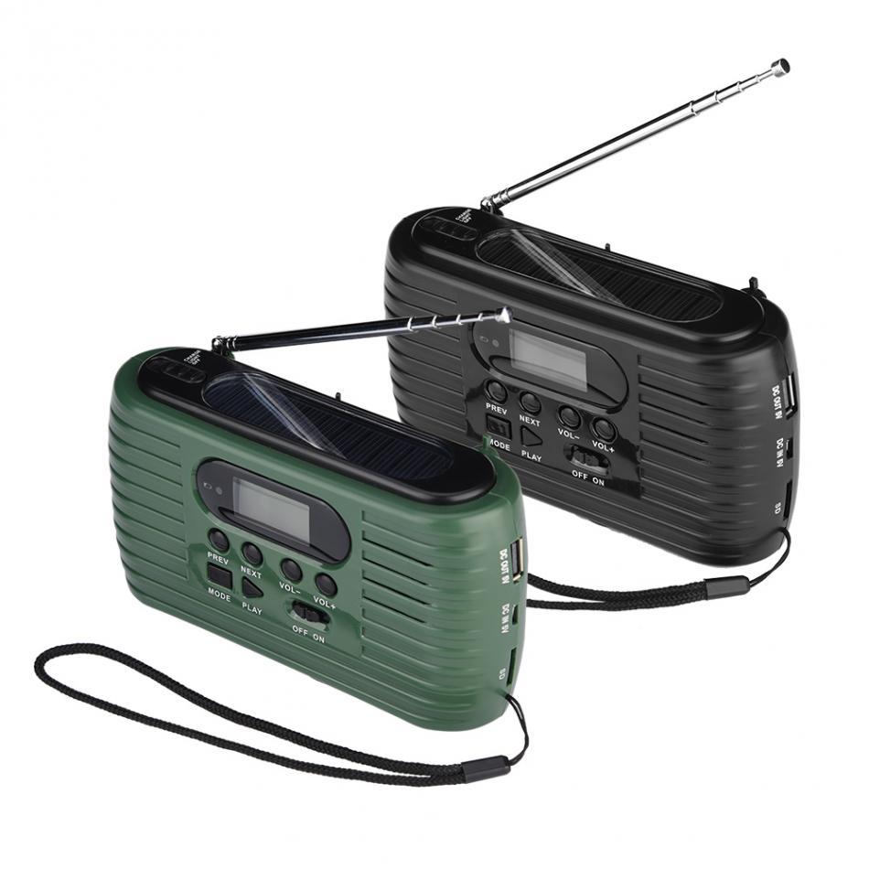 Radio Radient Tragbare Rd-323 Handkurbel Power & Solar Stromversorgung Notfall Am/fm Radio Mp3 Musik-player Durchblutung Aktivieren Und Sehnen Und Knochen StäRken Unterhaltungselektronik