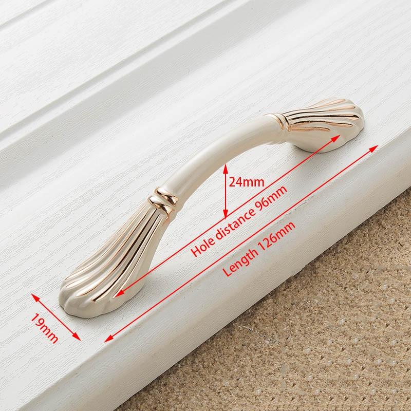 KAK цинк Aolly цвета слоновой кости ручки для шкафа кухонный шкаф дверные ручки для выдвижных ящиков Европейская мода оборудование для обработки мебели - Цвет: Handle-8822-96