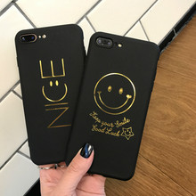 XINDIMAN gold foil patterned phone backcover for iphone 7 case 6 6s 6plus silicone 8 8plus  iphoneX TPU capa