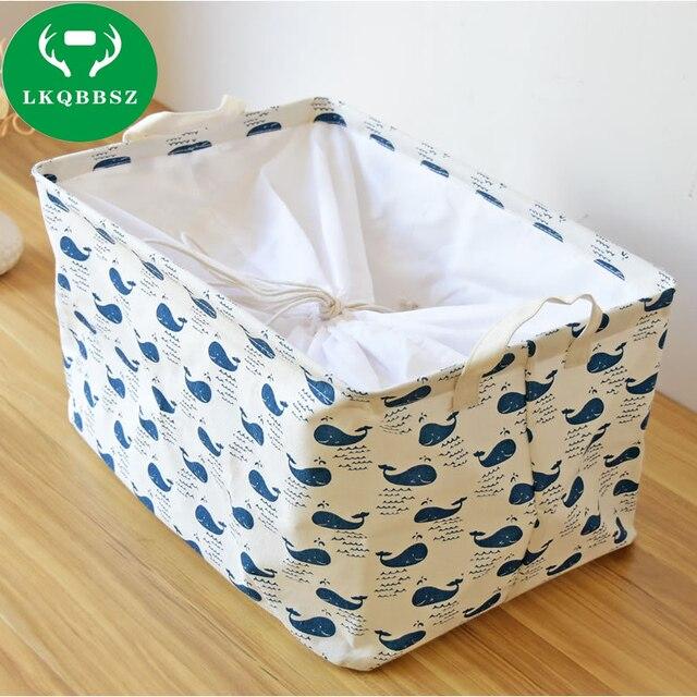 Large Canvas Organizer Box Dirty Clothes Laundry Basket Storage Toys Householder Bag Foldable