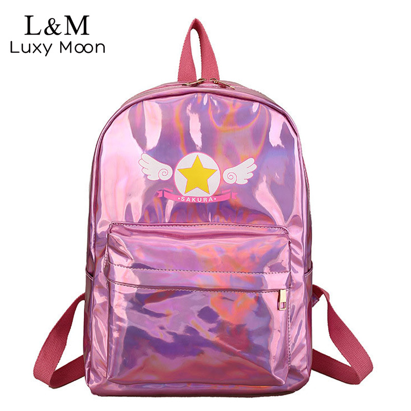 Glitter Laser Backpack Women Sequin Backpacks For Teenage ...