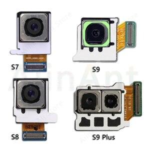 Image 1 - لسامسونج غالاكسي S8 S9 زائد G960F G965F G950f G955f الأصلي الرئيسية الخلفية كاميرا عودة فليكس كابل الهاتف إصلاح أجزاء