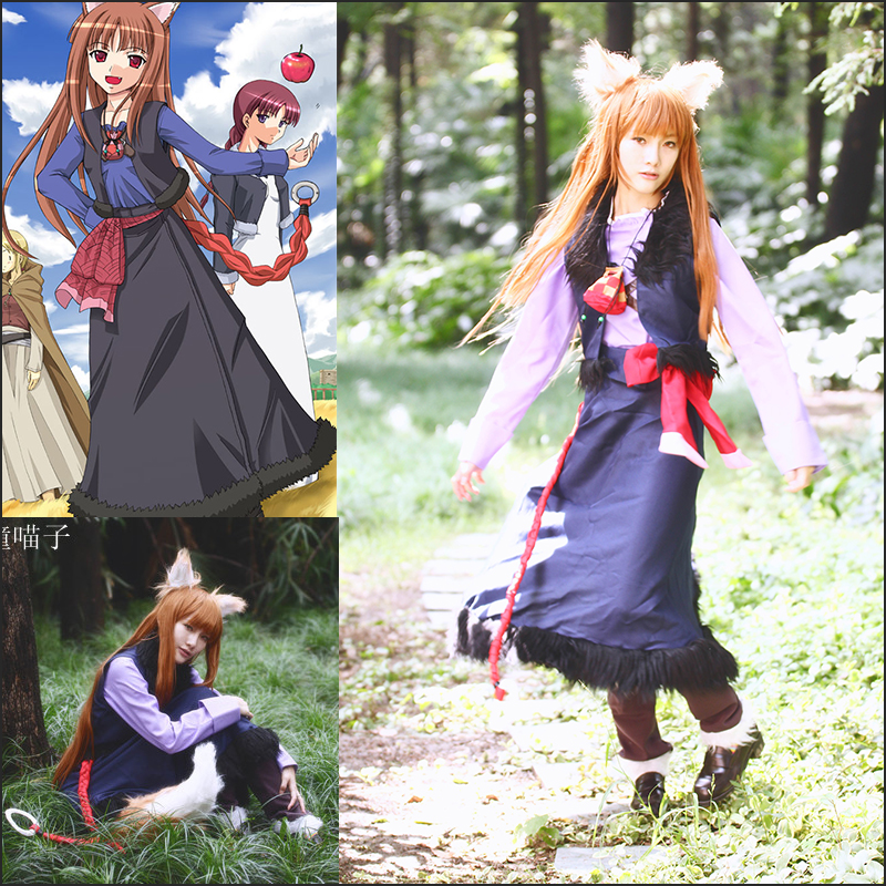 Anime Spice and Wolf Holo Lawrence Cosplay Costume