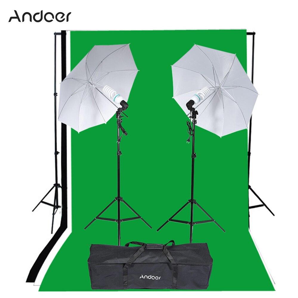 bilder für Andoer Fotografie Studio Portrait Produkt Licht Beleuchtung Zelt Kit Foto Video Ausrüstung