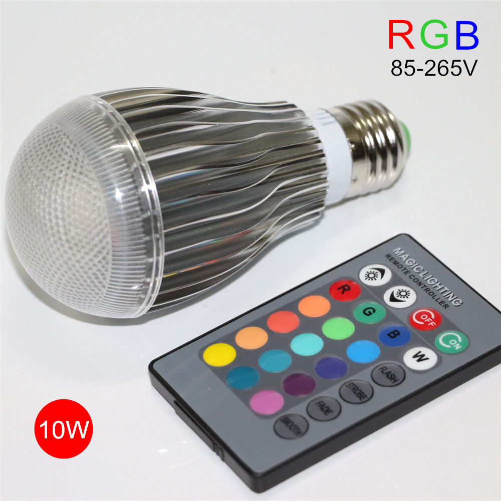 e27 10w rgb led lamp 110v 220v dimmable led bulb spot. Black Bedroom Furniture Sets. Home Design Ideas