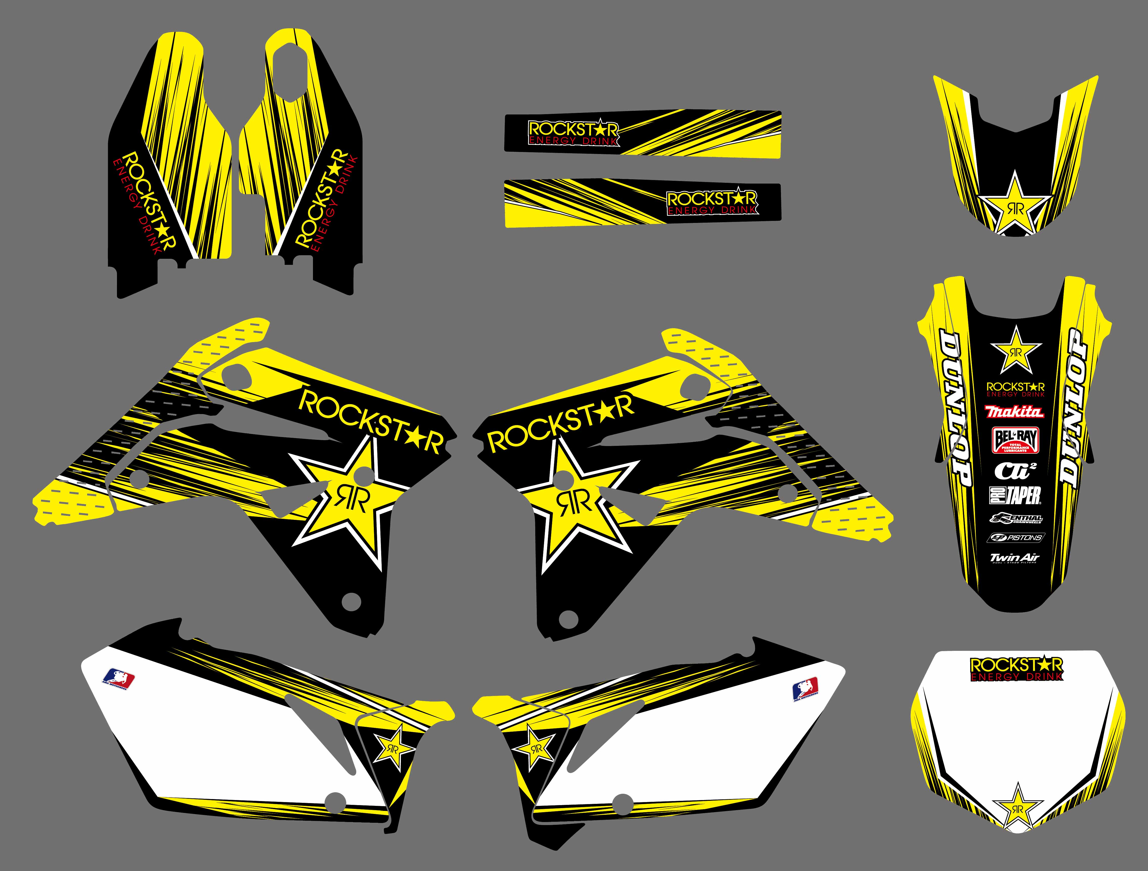 NICECNC Motorcycle New Team Graphic Background Decals And Stickers For Suzuki RM-Z450 RMZ450 RM-Z RMZ 450 2007 Yellow Black bikingboy front 13t rear 48t 49t 50t 51t 52t sprockets 520 chain for suzuki rmz 450 rmz450 2005 2016 rm z 450 05 16 full set