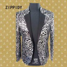 e179ec058e21 Silver Sequins Bright Leopard Design Men Suit Jacket Nightclub Male Singer  Show Blazer Costume Slim Individuality Ds Outfit Wear