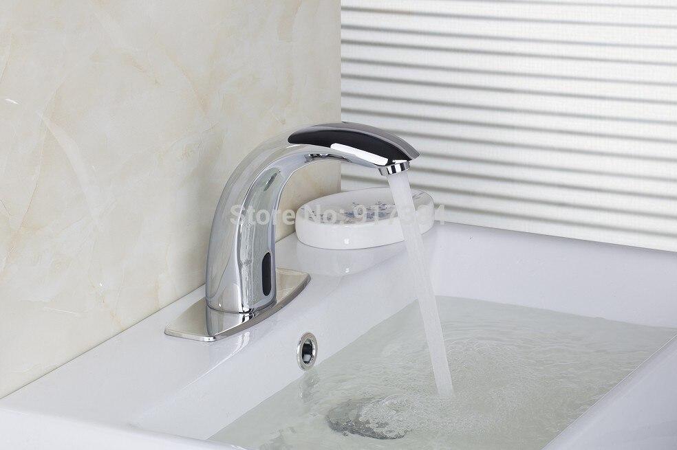 Kitchen Basin Sink Faucet Sense Chrome Automatic Sense Mixer Tap Faucet DE 0201