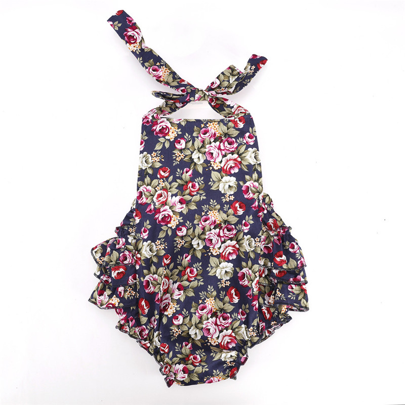 2pcs/set Summber Baby Girl Clothes Bodysuit With Headband Cotton Body For Newborns Childrens Body Roses Baby Clothing Sliders