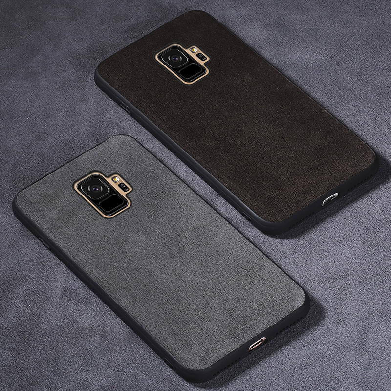 Phone Case For Samsung Galaxy S9 Plus S7 S8 A3 A5 A7 J3 J5 J7 2017 Note 8 9 Anti-knock Suede Leather Fundas Dirt-Resistant Coque