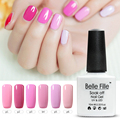 12 Pink Series Color Soak Off UV Led Lamp Nail Enamel  Gel Finish Polish Vogue Gel Lak Glitter Glue Gelpolish Nagellak