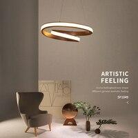 Современные светодиодные подвесные светильники для гостиной обеденный Кухня комната белый/коричневый Алюминий подвесной светильник lamparas