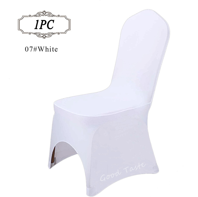 Chair Accessories For Weddings Office Wheels India Hot Sale 1pc Lot Universal Polyester White Lycra Spandex Covers Hotel Decor Party Event Supply