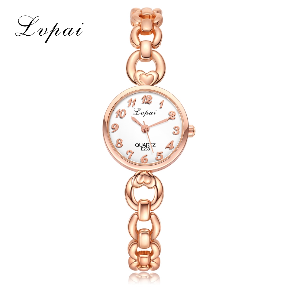Lvpai Ladies Watches For Women Dress Bracelet Female Clock Hours Quartz Watch Rose Gold  Watch Casual Women's Watches Wristwatch mjartoria ladies watches clock women quartz watch simple sport bracelet watch student girl female hand wrist watches for women