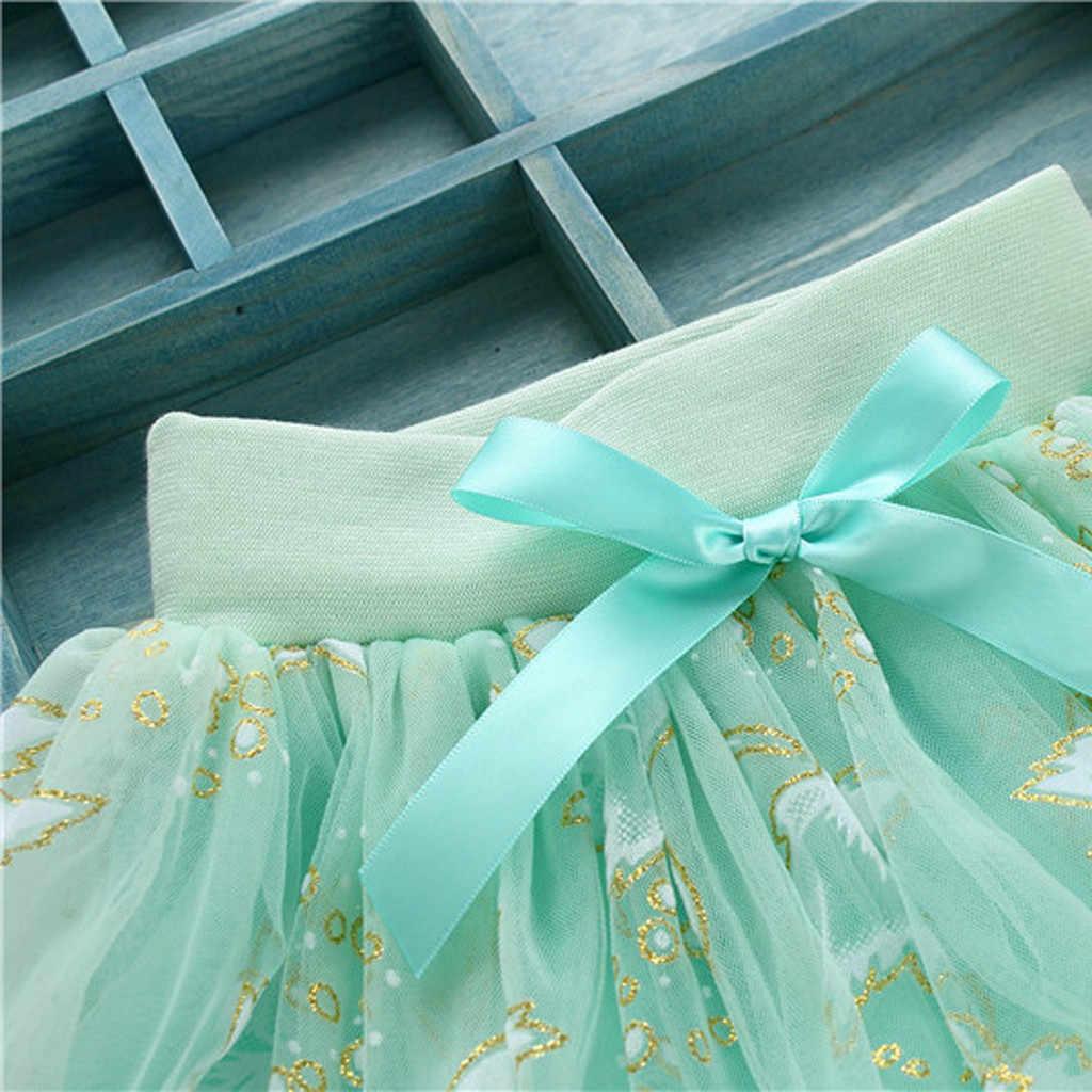 Letnia sukienka urocza księżniczka w połowie długości Pettiskirt słodka słodka kokarda dla dzieci lato słodka Tutu tiulowa bufiasta krótka suknia balowa