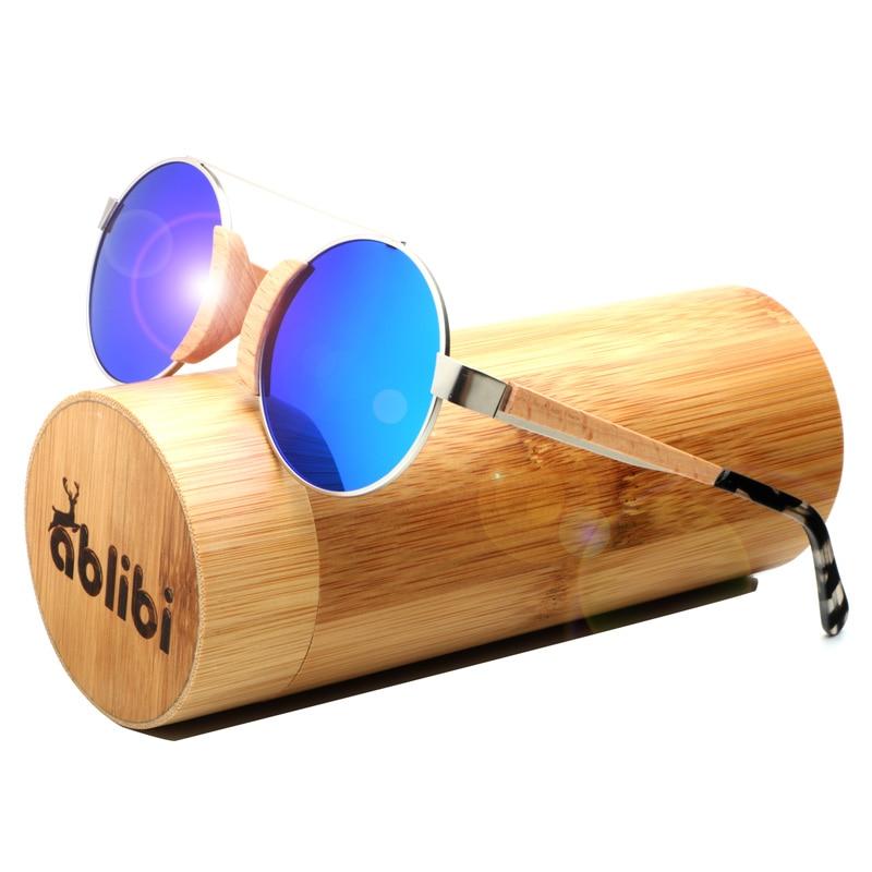 8cecb4e857 Ablibi Handmade Wood Lennon Sunglasses Women Polarized Lenses Tiny Sun  Glasses Unique Bamboo Wooden Shades in Bamboo Tube