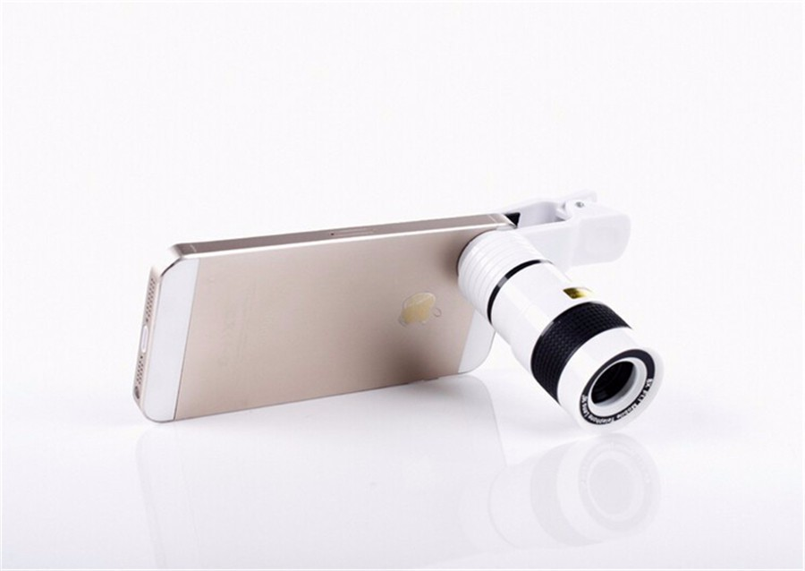 YIFUTE Lenses Universal Clip 8X Zoom Telephoto Lens HD Mobile Phone Camera Lenses For Apple iPhone 5 Samsung Xiaomi Redmi Huawei 5