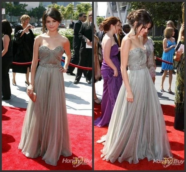 aa2fa28a80a Ручной новый милая серые платья знаменитостей красной дорожке платья с  бисером