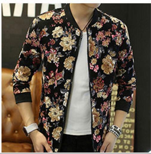 Buy Spring autumn young men printing blazer jacket male fashion tide short coat outfit Korean style new casual oversize outerwear