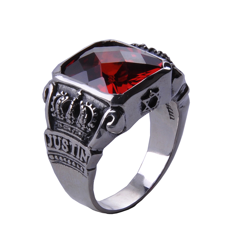 цена The Vampire Diaries Vampire Knight Crown Ring Jewelry Gift Men's Ring Gift Jewelry 925 Sterling Silver Ring онлайн в 2017 году
